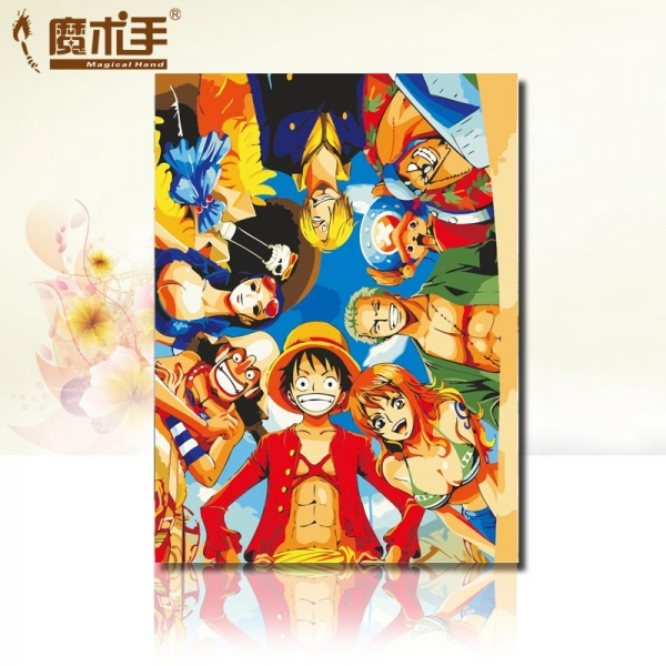 魔术手数字油画diy卧室动漫人物情侣儿童卡通手绘画