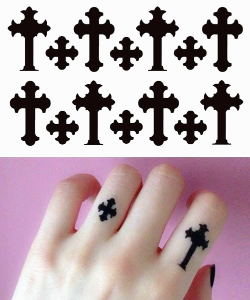 纹身图案大全图片女手指分享展示